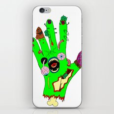 Zombie hand iPhone & iPod Skin