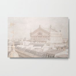 View of Paris Opera House Opera Garnier Metal Print