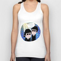 blues brothers Tank Tops featuring The Blues Brothers by my panda suit by la Lena