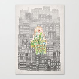 Eva City Glasshouse Canvas Print
