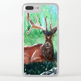 """Deer - Animal - """"Time to relax"""" - by LiliFlore Clear iPhone Case"""