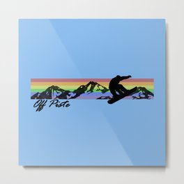 Off Piste Snowboard Metal Print