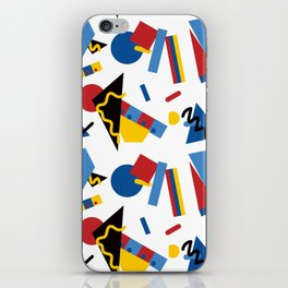 Postmodern Primary Color Party Decorations iPhone Skin