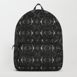 Charcoal Textured Ethnic Tribal Print Backpack