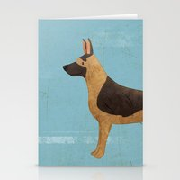 german shepherd Stationery Cards featuring German Shepherd by 52 Dogs