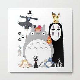 Studio Ghibli Gang Metal Print