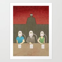 Gang of Scientists Art Print