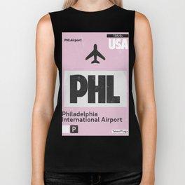 PHL Philadelphia airport code Biker Tank