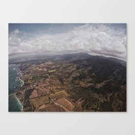 Skydiving Over Oahu Canvas Print