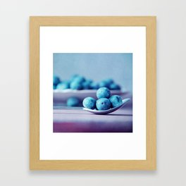 Blue Berrys Framed Art Print