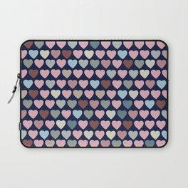 Valentines Hearts-Blue Background Laptop Sleeve