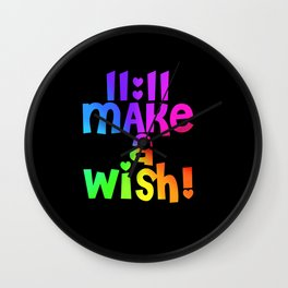 11:11 Make a Wish! Wall Clock