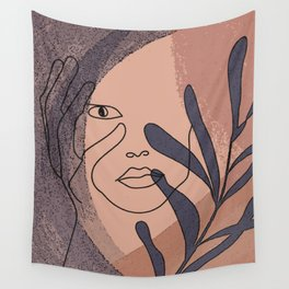Minimalist Self-Blaming concept, psychology print, psychiatric art print, minimal imotional artwork Wall Tapestry