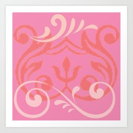 Island Wave Pink Art Print