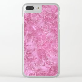 Frozen Leaves 22 Clear iPhone Case