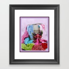 Are you missing any sock? - ¿Te falta un calcetín? Framed Art Print