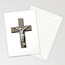 Jesuschrist on a Cross Sculpture Stationery Cards
