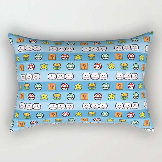 Pixel retro game Rectangular Pillow