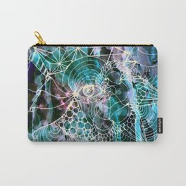 Submerged Fractal Print Carry-All Pouch