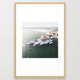 Harbor Lighthouse | Marquette, Michigan | Upper Peninsula | John Hill Photography Framed Art Print