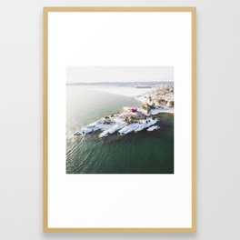 Harbor Lighthouse   Marquette, Michigan   Upper Peninsula   John Hill Photography Framed Art Print