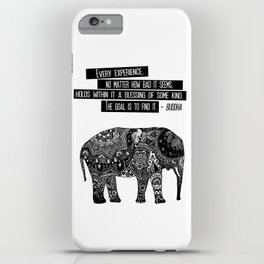 Blessing Buddha Quote iPhone Case