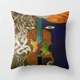 Falls Violin Throw Pillow