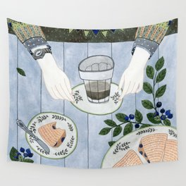 Blueberry Scones Wall Tapestry