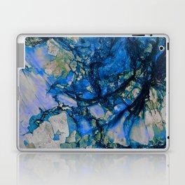 Blue Cracks Laptop & iPad Skin