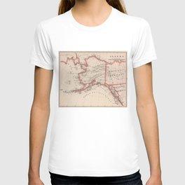 Vintage Map of Alaska (1883) T-shirt