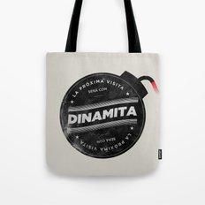 La próxima visita será con dinamita Tote Bag