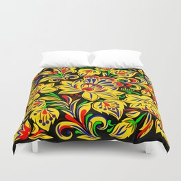 The Floral Motif Duvet Cover