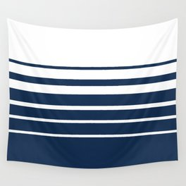 White blue striped pattern . Wall Tapestry