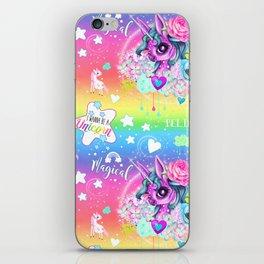 I wanna be a Unicorn Pattern iPhone Skin