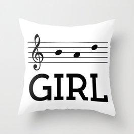 Bad girl (treble clef) Throw Pillow