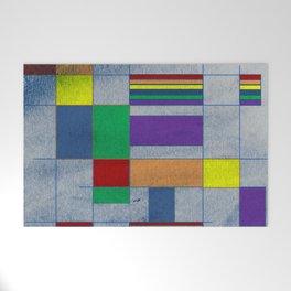 Mid-Century Modern Art - Rainbow Pride 1.0 Welcome Mat