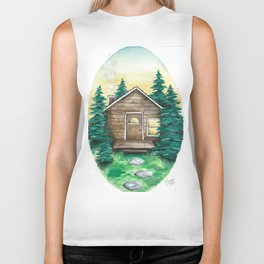 Cottage in the Woods Biker Tank