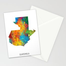 Guatemala Watercolor Map Stationery Cards