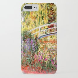 """Claude Monet """"Water lily pond, water irises"""" iPhone Case"""