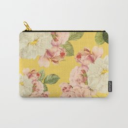 Flora temptation - sunny mustard Carry-All Pouch