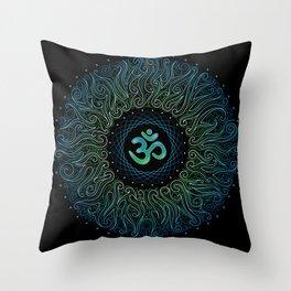 pranava yoga Throw Pillow