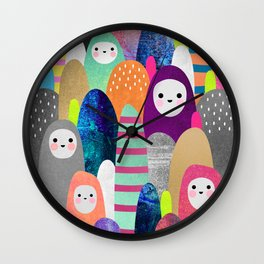 Pebble Spirits Wall Clock