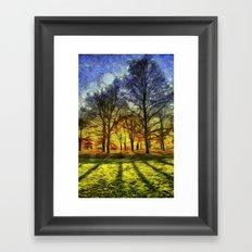 Greenwich Park London Sunset Art Framed Art Print