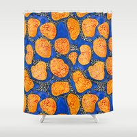 memphis Shower Curtains featuring Memphis by The Patternbase