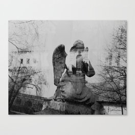 Angel. Novodevichy convent. Moscow. Canvas Print