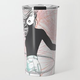 Lost Girl (lost time, risograph) Travel Mug