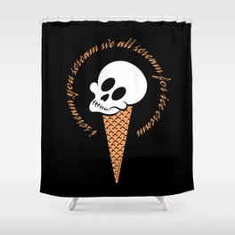 I Scream Cone Shower Curtain