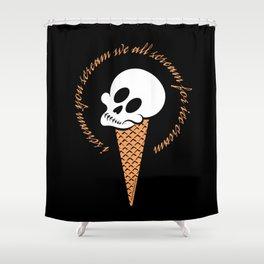 I Scream Cone Shower Curtain