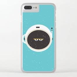 The Spaceman on Earth Clear iPhone Case