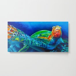 Early Riser - Sea Turtle Metal Print